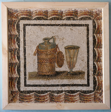 tunis: Ancient Roman mosaic located in the most famous museum in Tunis, Tunisia