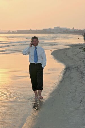 Businessman at the beach Stock Photo - 1827845