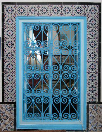 Beautiful window with ornament, Tunisia photo