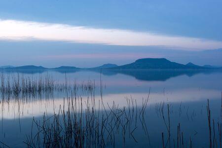 balaton: Lake Balaton after beautiful sunset