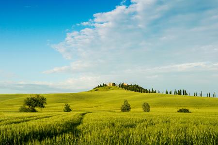 Beautiful Tuscany landscape near Siena, Italy Stock Photo