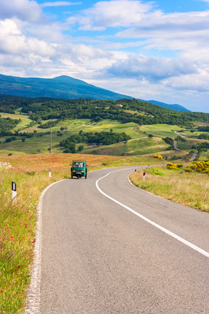 Summer country road in beautiful Tuscany, Italy Stock Photo