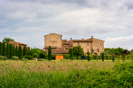 Typical tuscan farmhouse in Italy, Europe Stock fotó