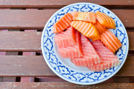 watermelon and papaya  photo