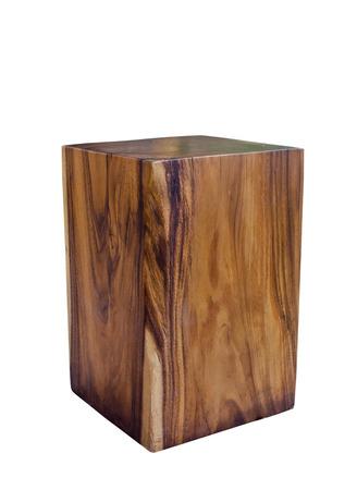 wooden stool isolated on white background. photo