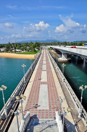 The Sarasin Bridge, Phuket Thailand . photo