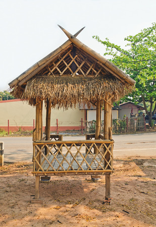 Small bamboo hut. photo