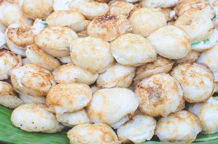 sweetmeat: Thai dessert, coconut milk with powder fried.