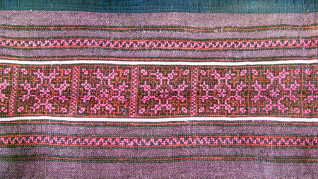bead embroidery: Thai embroidery, Handmade tribe textile style