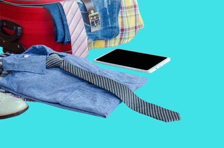 outfits: Mens casual outfits, Outfits of traveler, boy, male, Mens casual outfits on wood background, Travel accessories.