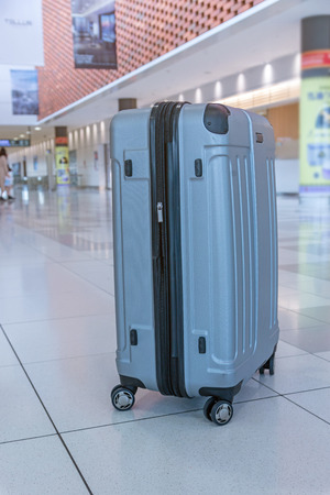 suitcase travel at New Chitose airport, Sapporo, Japan. Standard-Bild - 110097182