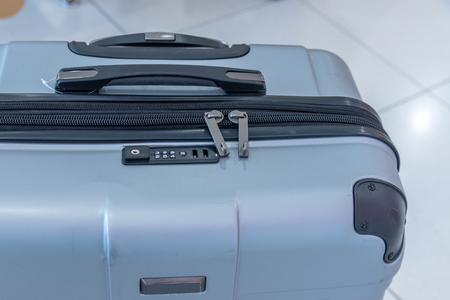 Closeup suitcase travel Standard-Bild - 112670099