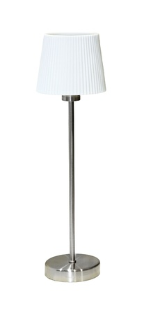 Modern table lamp with small white lampshade Stock Photo - 11966655