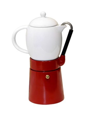 cofffee: Retro coffee pot isolated with cliping path included