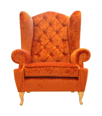 Retro style armchair isolated with clipping path included photo