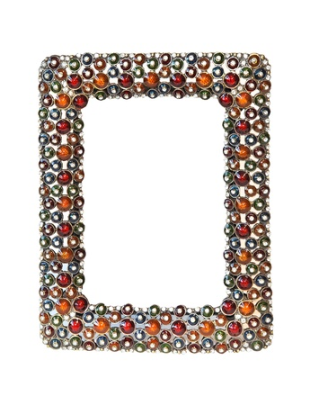 Decorative jewelled frame isolated