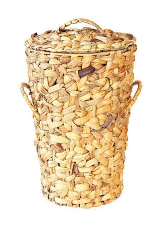 Big rattan basket isolated photo
