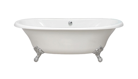 Vintage bathtub isolated