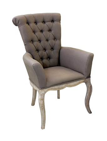 Vintage grey chair isolated