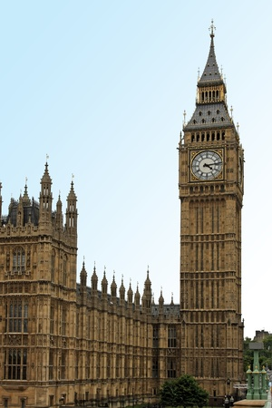Famous London landmark Big Ben clock tower photo