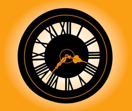 numeros romanos: Reloj retro con n�meros romanos