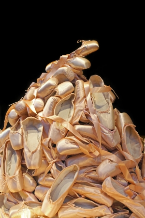 proffessional: Large pile of proffessional female ballet shoes