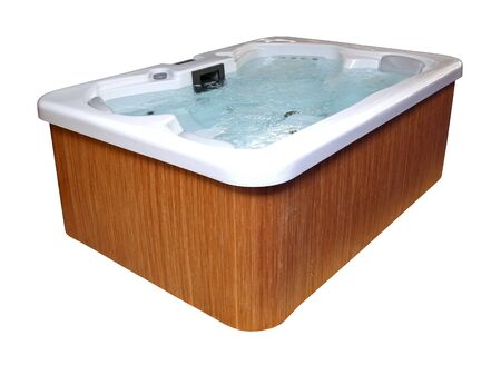 Modern hydromassage hottub isolated Stok Fotoğraf