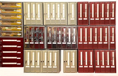 compartments: Private postbox compartments in large residential building
