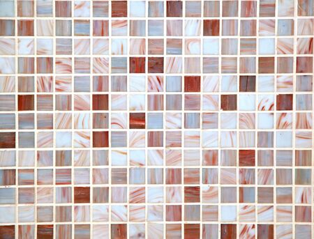 Decorative mosaic beige ceramic tiles pattern detail Stock Photo - 16684090