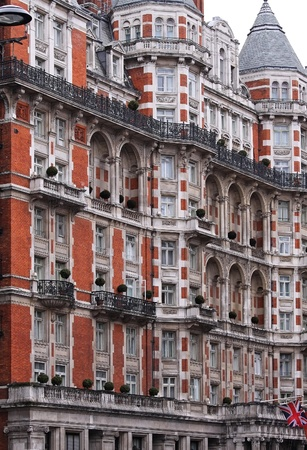 Detail of Victorian architecture building facade in London