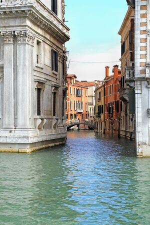 Traditional houses on one of the canals in Venice Stock Photo - 17091570