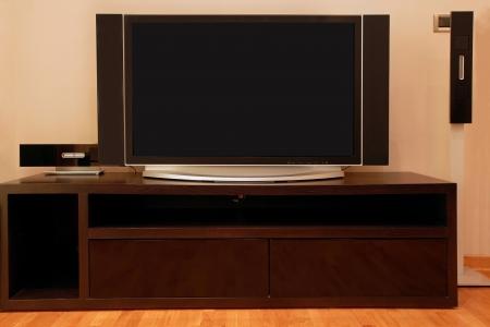 Large screen TV inside modern interior apartment Stock Photo - 17852763