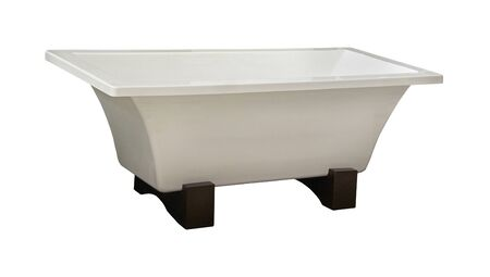 Retro self standing bathtub isolated with clipping path included Stock Photo - 18023500