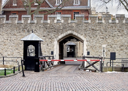 Famous British landmark Tower of London entrance photo