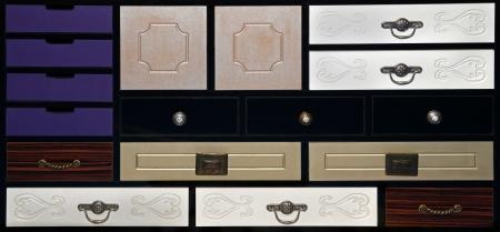 Abteile: Bunch von kleinen Stauf�cher kleinen Schubladen Lizenzfreie Bilder