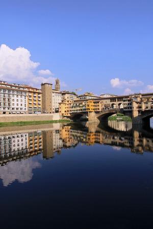 ponte vecchio: Famous Italian landmark Ponte Vecchio in Florence Stock Photo