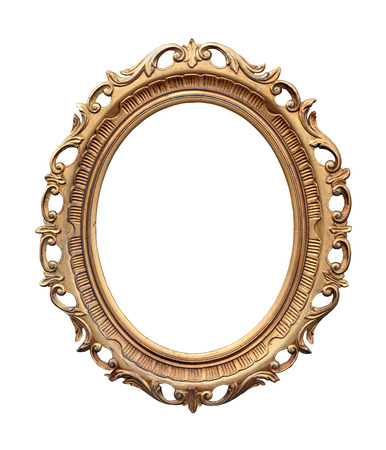 Retro oval frame isolated with clipping path included photo