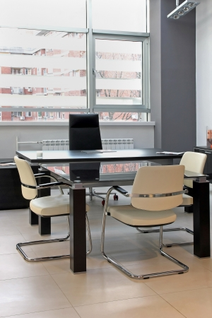 Small office meeting room interior with modern furniture Stock Photo