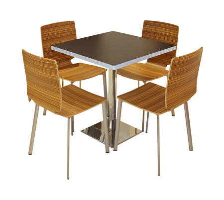 chairs: Dining table and chairs isolated with clipping path included Stock Photo