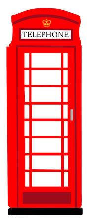 Rode Britse telefooncel Stockfoto - 26083014