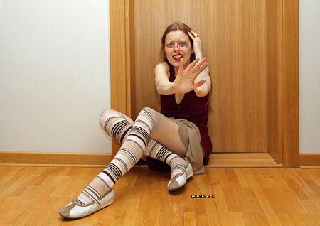 mujer golpeada: La chica joven de la alta sociedad que vive en cara el sufrimiento a casa desde el abuso doméstico paliza