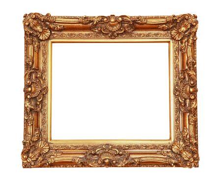 cadre antique: Cadre antique d'or isol�e avec chemin de d�tourage inclus