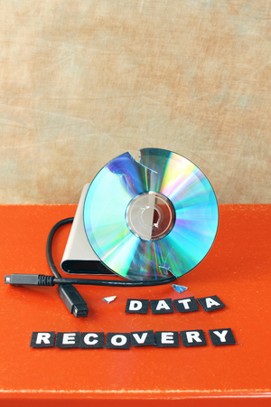 data recovery: Broken DVD disc brought for data recovery