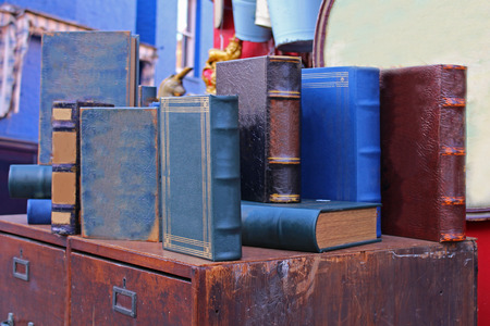 hard cover: Old used books in hard cover sold on vintage market