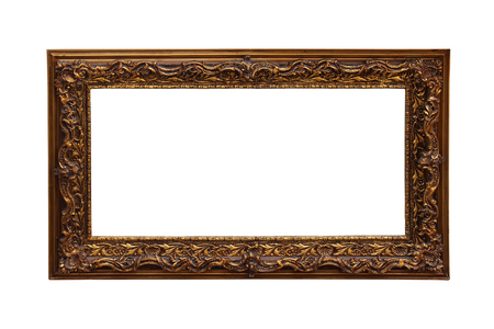 decorative frame: Vintage bronze decorative frame isolated  Stock Photo