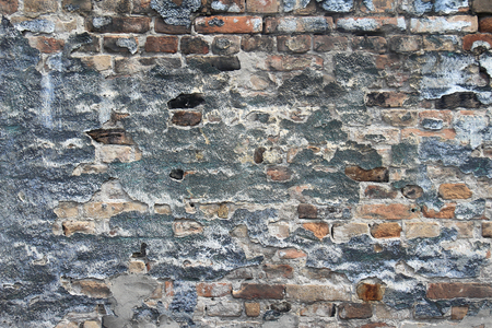 decayed: Grunge pattern of old decayed brick wall Stock Photo