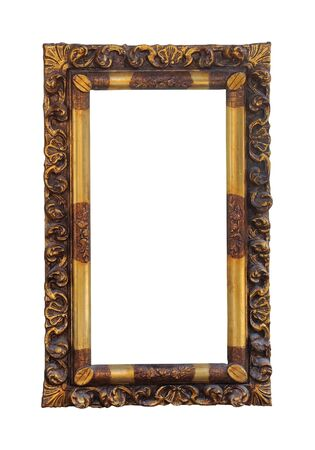 decorative frame: Decorative frame isolated with clipping path included Stock Photo