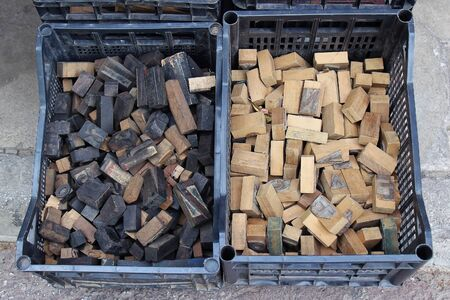 old letters: Old wooden typescript letters used on vintage letter presses