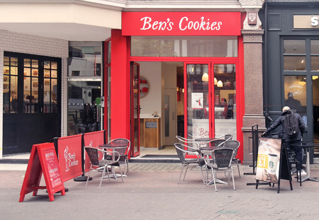bens: LONDON, UK - March 24: Famous Bens cookies shop in Carnaby Street in London, UK - March 24, 2016; Ben�s Cookies is a chain of cookie shops in England founded in 1983. Editorial