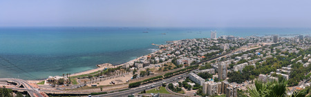 Panoramic view of Tel Aviv city in Israel Фото со стока